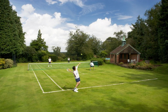 Tennis on the grass